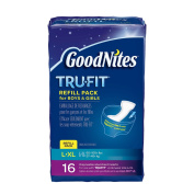Goodnites Tru-fit Refill Pack Disposable Absorbent Inserts For Boys & Girls