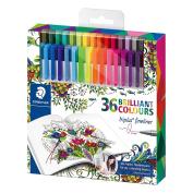 Staedtler Johanna Basford Triplus Fineliner Pens For Adult Colouring Books (set