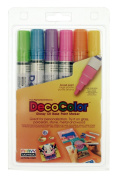 Uchida 300-6c 6-piece Decocolor Broad Point Paint Marker Set, New,  .