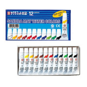 12 Colours Sakura Colour Paint Mat Watercolour (5ml) Laminated Tubes Containing Em