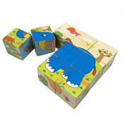 Rolimate Rolimate Educational Preschool Wooden Cube Block Jigsaw Puzzles -