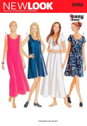 New Look Sewing Pattern 6352 Misses Dresses, Size A (8-10-12-14-16