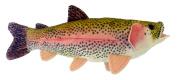 Adore 43cm Sierra Rainbow Trout Plush Stuffed Animal Walltoy Wall Mount Stuffed