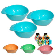 3 Baby Feeding Bowl Dish Kids Plate Toddler Child Divided Sections Bpa Free New
