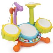 Topwon Kids Todder Rock Band Drum Toy Set