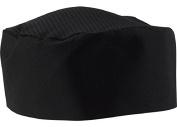 Black Chef Hat - Adjustable Hook and loop