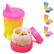 Mommy's Helper Sippy Cup Snack No-spill Cereal Compartment Container