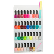 Acrylic Nail Polish Wall Rack Organiser By D'eco, New,  .