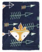 Little Love By Nojo Aztec Print Coral Fleece Blanket