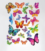 Innovative Stencils 3005 Easy Peel And Stick Colourful Butterflies Nursery Decal