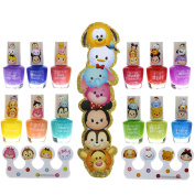 Townley Girl Tsum Tsum Best Shimmery, Shiny Nail Polish Kit, with Toe Separators and Nail File, 12 fun colours.