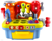 Wolvol Musical Learning Workbench Toy With Tools, Engineering Sound Effects And