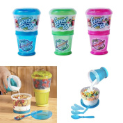 1 X Cereal On The Go Cup Ez Freeze Gel Travel Food Storage Snack Container !!