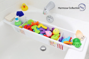 Hermosa Collection Kids #1 Rated Bath Toy Organiser & Bathtub Storage Basket