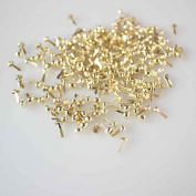 500pc Gold Mini Round Brads Pastel Scrapbooking Card Making Stamping
