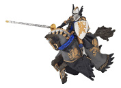 Papo Dragon Black Prince And Horse - Kids Fantasy Toy Model Action Figure Knight