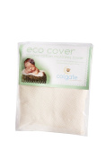 Eco Cover Organic Cotton Fitted Crib Mattress Cover W/ Waterproof Backing Natura