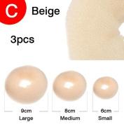 CareforYou® Hot Hair Donut Bun Ring Styler Maker 1 Set 3 Pieces( 1 Small 1 Medium 1 Large)