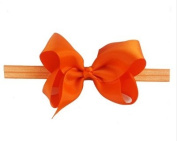BFab 15cm Big Hair Bow with Shimmery Elastic Band Headband