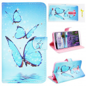 LG G3 Magnetic Closure Case, Moon mood® PU Leather Flip Wallet Stand Phone Case for LG G3 D855