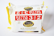 3X ATHENA BEAUTE FACIAL WIPES USEFUL COMPLETE CLEANSING WIPE LIKE PURE WIPE
