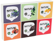 LUXEHOME Fruit Series 100% Nature Oil Guest Gift Soap Set, 75g/pcs, 6pcs/set