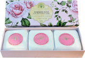 Gift Boxed Hand Soaps 3 x 100g Summer Rose