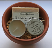 Hand and Lip Gift Pot - Goatmilk Oatmeal & Honey with French Vanilla