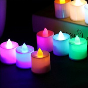 6pcs Flameless LED Candles Tea Lights, 24pcs Flickering Candles Smokeless Candles with Battery for Party, Festivals, Weddings,Christmas Decoration