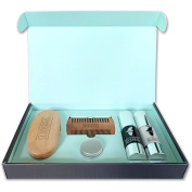 Well Groomed Wizard Beard Grooming Kit, including beard comb set and oil gift set