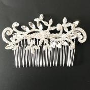 Txian Wedding Bridal Bridesmaid Flower Crystal Rhinestones Pearls Hair Comb Clip