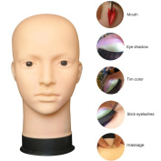 Dummy Model Heads, Transer® Mannequin Flat Head Practise Make Up Massage Training Model Eyelash Extensions Dummy Heads