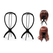 Ardisle 3 Pack - Wig Display Stand Mannequin Dummy Head Hat Cap Hair Holder Foldable