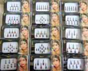 6 Different Bindi Packs Mix n Match Face Jewels Bollywood Stickers Indian Bindi