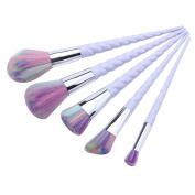 HENGSONG Unicorn Make-up Brush Set Foundation Eyebrow Eyeliner Blush Cosmetic Concealer, 5PCS /Set