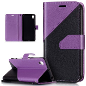 Sony Xperia X Performance Case,Sony Xperia X Performance Cover,ikasus Hit Colour Collision PU Leather Fold Wallet Pouch Flip Stand Credit Card ID Holder Case for Sony Xperia X Performance,Purple