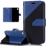 Sony Xperia X Performance Case,Sony Xperia X Performance Cover,ikasus Hit Colour Collision Premium PU Leather Fold Wallet Pouch Flip Stand Credit Card ID Holders Case for Sony Xperia X Performance,Blue