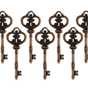 Aokbean Mixed Set of 20 Extra Large Antique Copper Finish Skeleton Keys in Antique Style - Set of 20 Keys