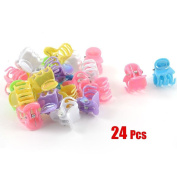 RuiChy 24 Pcs Assorted Colour Plastic Mini Hair Clip Claw for Ladies