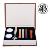 Stamp Seal Sealing Wax Classic Wooden Letter T Alphabet Initial Set Brass Colour Creative Romantic Stamp Maker