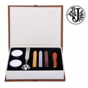 Stamp Seal Sealing Wax Classic Wooden Letter J Alphabet Initial Set Brass Colour Creative Romantic Stamp Maker