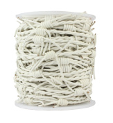 Leather Cord Barbed Wire, 10 Metre Spool, White