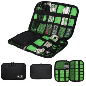 Kemilove Travel Gadget Organiser Double Sides Electronics Accessories Bag Data Wire Storage Package