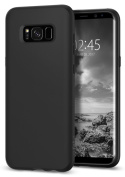 Samsung Galaxy S8 Case, Spigen® [Liquid Crystal] Galaxy S8 Case Cover with Slim Protection and Premium Clarity for Galaxy S8 (2017) - Matte Black- 565CS21613