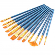 Paint Brush Set, GoFriend 12 Pieces Round Pointed Tip Nylon Hair Artist Acrylic Brushes Fine Paint Brush for Watercolour, Acrylics, Oil Painting Supplies