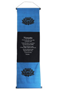 Large Cotton Namaste Inspirational Yoga Banner Scroll Style Three Colour Choice