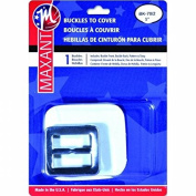 Maxant Button BK-70/2 Square Buckle Cover Kit, 2.5cm , Silver