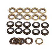 17mm Antique Brass Eyelet Grommets Kit With Washers For Leather, Canvas, Clothes, Shoes, Belts, Bags, DIY Crafts, 20sets