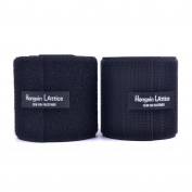 """8CM Wide(Approx 3"""") 2 Metre Long Sew On Hook And Loop Strips Set With Non-Adhesive Back Nylon Fabric Fastener Black"""