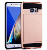 Samsung Galaxy S8 Case,Inspirationc Dual-Layer Hybrid Armour Wallet Case for Samsung Galaxy S8--Rose Gold